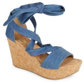 Kenneth Cole Reaction Solerise Lace-up Wedge Sandals