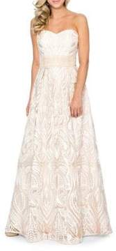Decode 1.8 Embroidered Strapless Ball Gown