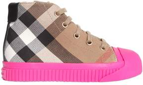 Burberry Classic Check Canvas High Top Sneakers