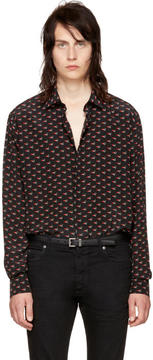 Saint Laurent Black Bouche Shirt