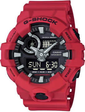 G-Shock Men's Analog-Digital Red Resin Strap Watch 53x58mm GA700-4A