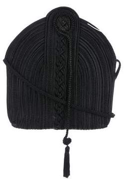 Nina Ricci Braided Canvas Crossbody Bag