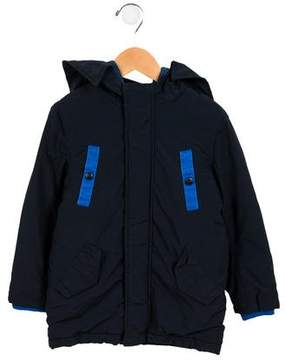 Little Marc Jacobs Boys' Hooded Colorblock Coat