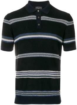 Roberto Collina striped terry polo shirt