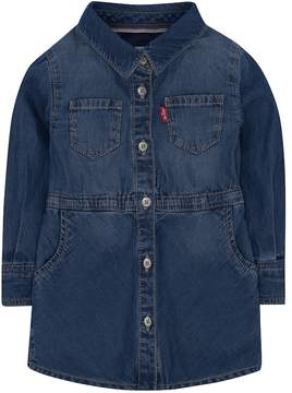Levi's Girls 4-6x Fit & Flare Denim Shirt Dress