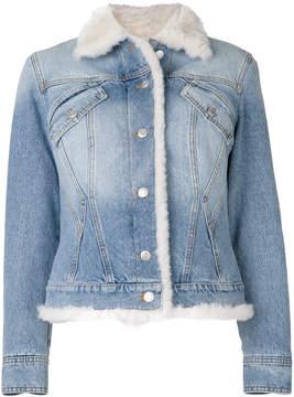 Alexander McQueen shearling denim jacket