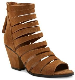 Mossimo Women's Kimmy Strappy Suede Open Toe Booties