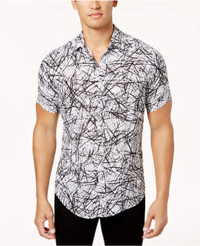 INC International Concepts I.n.c. Men's Scratch-Print Shirt, Created for Macy's