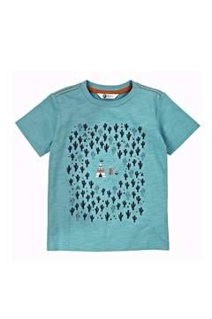 Petit Lem Teal Cactus Shirt Top