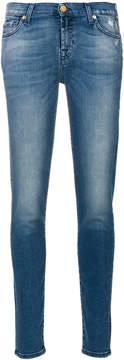 7 For All Mankind classic washed skinny jeans