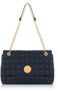 Coccinelle Women's Blue Leather Shoulder Bag.