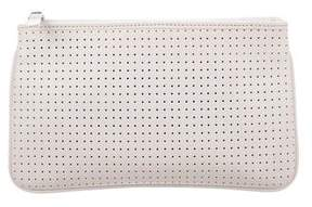 Lambertson Truex Perforated Leather Zip Pouch