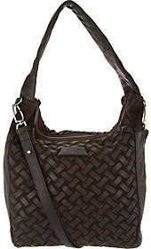 Liebeskind Berlin Leather & Suede Woven Hobo- Bedford