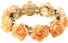 Amrita Singh Women's Resin Rose Stretch Station Bracelet