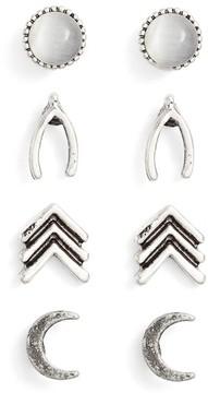 Ettika Women's Set Of 4 Stud Earrings