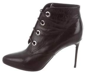 Belstaff Leather Lace-Up Ankle Boots
