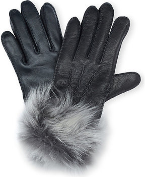 UGG Ladies Black Luxury Toscana Smart Leather Gloves
