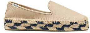 Sole Society Platform Smoking Slipper Leather Espadrille