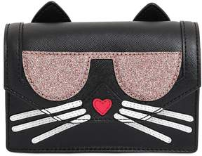 Karl Lagerfeld K Kocktail Cat Faux Leather Shoulder Bag