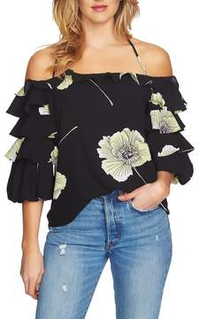 1 STATE 1.STATE Tiered Sleeve Off the Shoulder Top