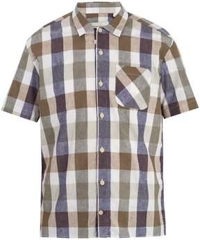 Oliver Spencer Edson short-sleeved checked cotton-blend shirt