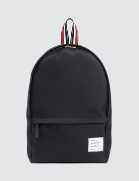 Thom Browne Solid Backpack with Leather Trim