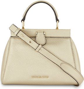 MICHAEL Michael Kors Michael Kors Ladies Pale Gold Embossed Practical Gramercy Small Satchel Bag - PALE GOLD - STYLE
