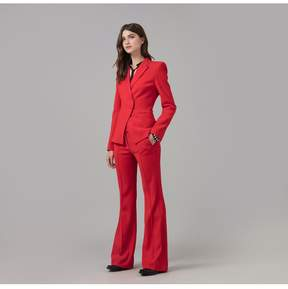 Amanda Wakeley | Red Luxe Tailoring Jacket | Xl | Red