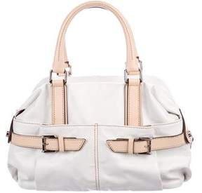 Tod's Leather-Trimmed Handle Bag