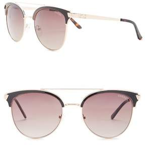 GUESS Clubmaster Metal Frame Sunglasses