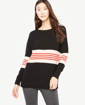 Ann Taylor Striped Tunic Sweater