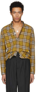 Maison Margiela Yellow Plaid Shirt