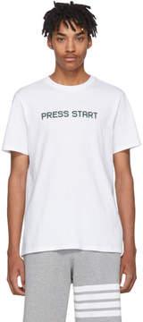 A.P.C. White Press Start T-Shirt