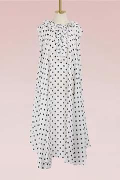 Balenciaga Polka dot short-sleeved dress