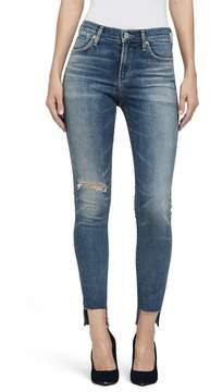 Citizens of Humanity Women's Rocket High Waist Step Hem Skinny Jeans