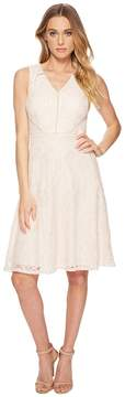 Adrianna Papell Rose Lattice Lace Fit and Flare Women's Dress