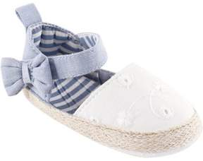 Luvable Friends Newborn Baby Girls' Bow Espadrille