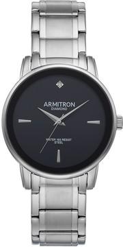 DAY Birger et Mikkelsen Armitron Men's Diamond Accent Stainless Steel Watch - 20/5263BKSV