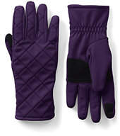 Lands' End Women's Softshell EZ Touch Gloves-Black