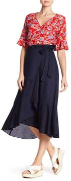 Angie Solid Wrap Skirt