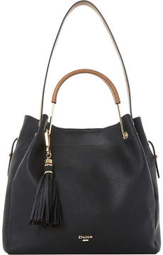 Dune Large metal handle slouch handbag
