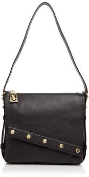 Marc Jacobs Downtown Leather Messenger - BLACK/GOLD - STYLE