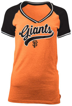 5th & Ocean Women's San Francisco Giants Rhinestone Night T-Shirt