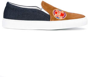 Joshua Sanders denim detail slip-on sneakers