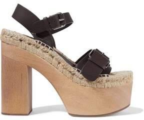 Paloma Barceló Lucia Leather Platform Espadrille Sandals