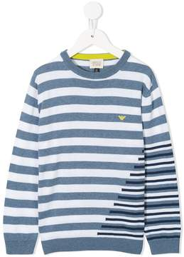 Emporio Armani Kids stripped knitted sweater