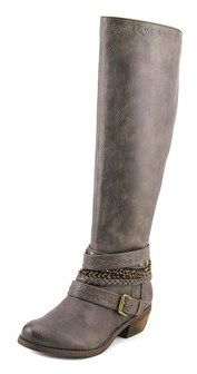 Not Rated Odilia Women Round Toe Synthetic Gray Boot.