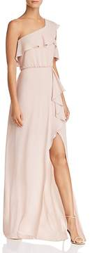 BCBGMAXAZRIA One-Shoulder Ruffle-Trim Gown - 100% Exclusive