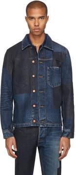 Nudie Jeans SSENSE Exclusive Blue Painted Denim Ronny Jacket