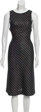 Alaia Metallic-Accented Open Back Dress w/ Tags